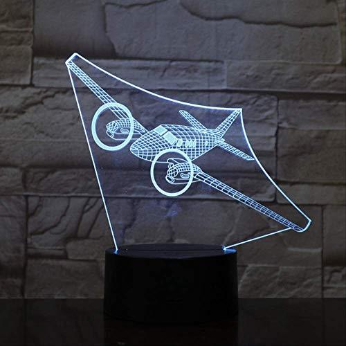 Luz De Noche 3D Plano 3D Lámpara De Ilusión Led Luces De Ilusión Óptica 3D 7 Colores Multicolores Usb Decoración Del Hogar Lámpara Cambiable De Color Para Niños Control Remoto Y Táctil 7 Colores Cambiables