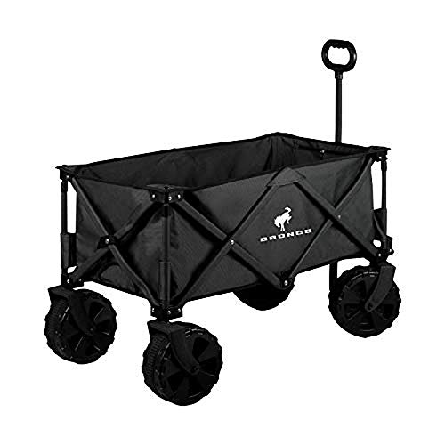 Ford Bronco Collapsible Wagon, All Terrain Folding Wagon with Storage Cover and Carrying Handles