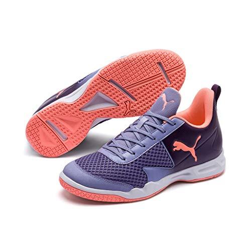 Puma Damen Rise XT 4 WN's Handballschuhe, Violett (Sweet Lavender-Bright Peach-Indigo White 2), 37.5 EU
