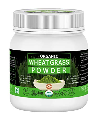 Organic Wheat Grass Powder-16 Oz/1 lbs,USDA Certified I 100% Pure&Natural I Nutritional Content of Favorite Green Smoothies I High in Chlorophyll I RAW,Greenish Like Leaves,NO Preservative,Non GMO