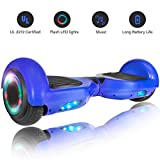 ROCKETX Hoverboard with Bluetooth Speaker LED Wheel (Blue)
