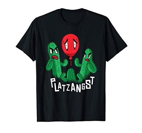 Platzangst Phobie Statement Kaktus Luftballon Klaustrophobie T-Shirt