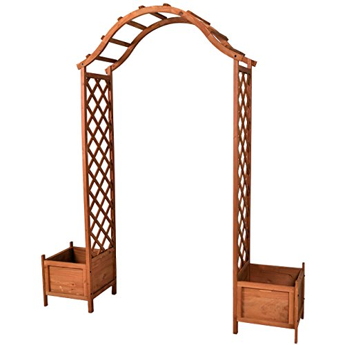 Nexos Holzeingang Torbogen Rosenbogen Rankhilfe Spalier Pergola Topfstellplätze Holz