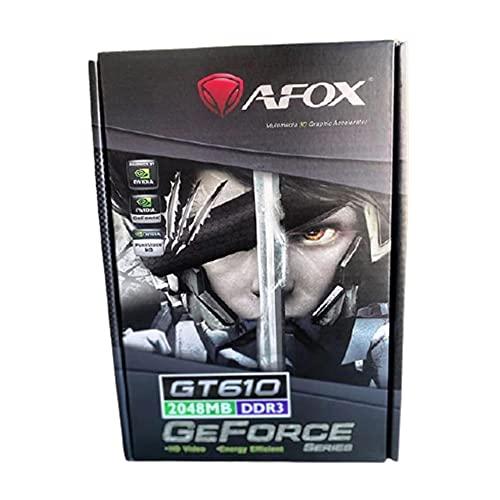 Placa de Vídeo AFOX GeForce GT610 2GB DDR3 64 Bits LP, HDMI/DVI/VGA, AF610-2048D3L7-V5