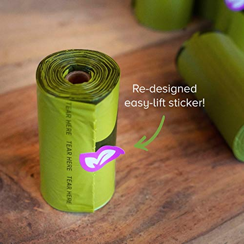 Earth Rated Dog Poop Bags, 270 Extra Thick and Strong Poop Bags for Dogs, Guaranteed Leak-proof, Lavender-Scented, 18 Rolls, 15 Doggy Bags Per Roll, Each Dog Poop Bag Measures 9 x 13 Inches
