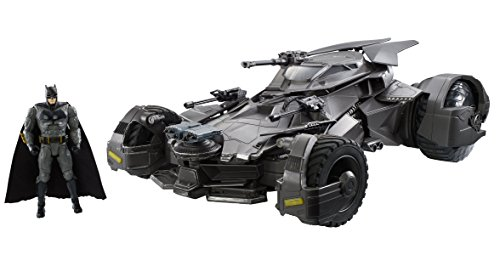 Deluxe, Remote Controlled Batmobile With Premium Justice League Movie Features. Driver's Pov Camera In Cockpitwith Headsup Display/Hud Overlay. Engine Makes Authentic Sounds And Smoke Releases From The Exhaust Pipe. Comes With A Super Speed Battery ...