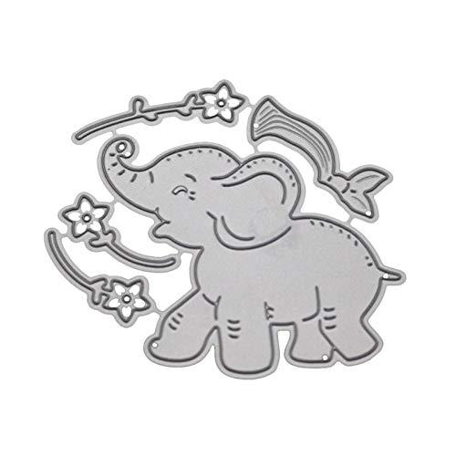 ZChun olifant bloem metaal stansvormen sjabloon scrapbooking DIY album stempel reliëf
