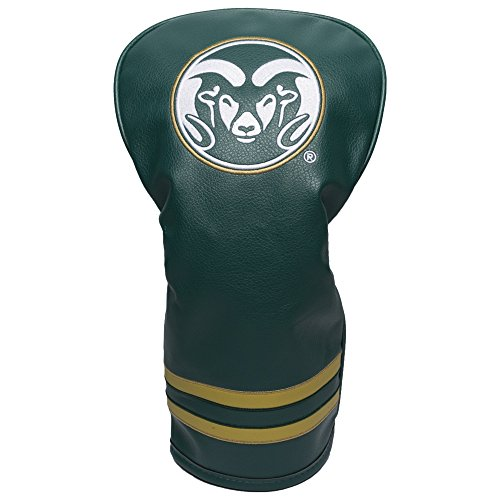 Team Golf NCAA Colorado State Rams Vintage Driver Golf Club Headcover, Form Fitting Design, Retro Design & Superb Embroidery