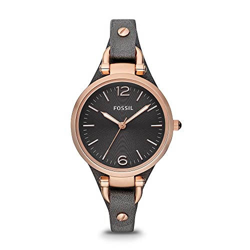 Reloj para mujer FOSSIL Georgia, tamaño de caja de 32 mm, movimiento de cuarzo, correa de piel