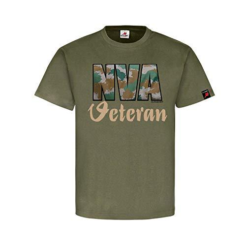 NVA Veteran DDR Soldat Flächentarn Tarn Fan - T Shirt #26884, Größe:XL, Farbe:Oliv
