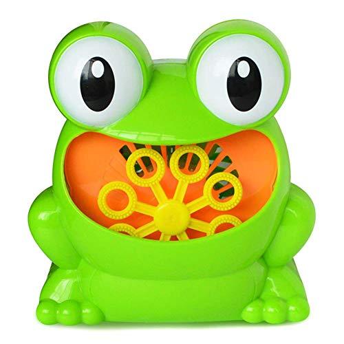 Abilieauty Frosch Batterienbetrieben Automatisch Seifenblasen Maschine Bubble Maker für Kinder Innen Außen