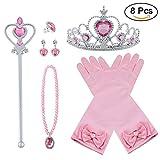 Vicloon neue Prinzessin Kostüme Set 4 Stück Geschenk aus Diadem, Handschuhe, Zauberstab,...