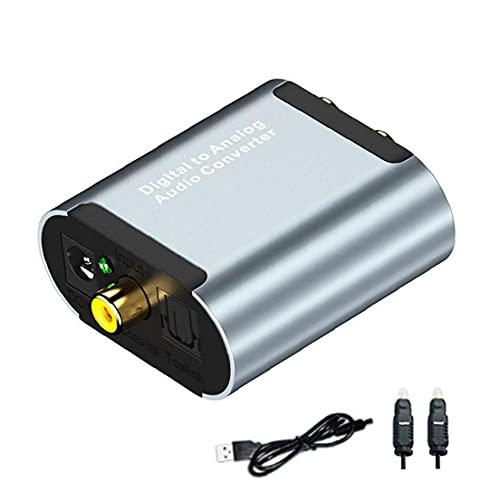 Convertidor digital al convertidor de audio analógico óptico Toslink a RCA L/R con cable óptico 3.5mm Jack DAC Converter para PS4 Xbox TV DVD