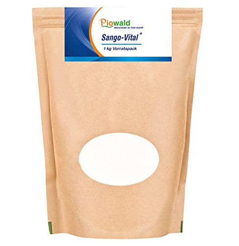 Piowald Sango Vital - Sango Meeres Koralle - 1 kg Pulver mit Calcium und Magnesium