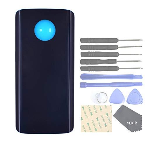 VEKIR Back Glass Replacement with Adhesive Tape for Motorola Moto G6 XT1925(Deep Indigo)