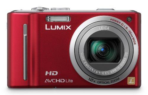 Panasonic Lumix DMC-TZ10EG-R Digitalkamera (12 Megapixel 12-fach opt. Zoom, 7,6 cm (3 Zoll) Display, Bildstabilisator, Geo-Tagging) rot