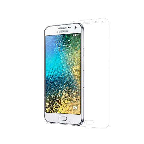 Simplecase Panzerglas passend zu Samsung Galaxy E5 , Premium Bildschirmschutz , Schutz durch Extra Festigkeitgrad 9H , Hülle Friendly , Echtglas / Verb&glas / Panzerglasfolie , Transparent - 1 Stück