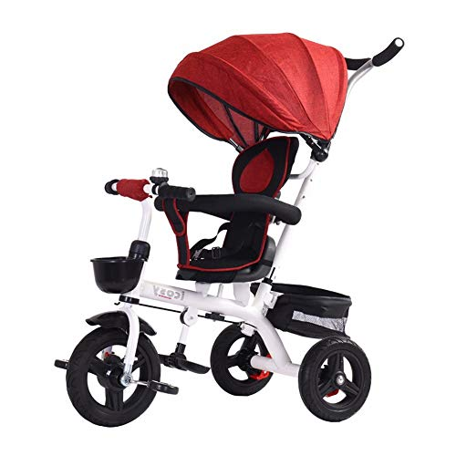 Check Out This Song Radio Flyer Tricycle Baby Balance Car Baby Stroller Sit and Push Children Bicycle 1-3-6 Years Old Tricycle Full Hood Multi-Speed Adjustment (Color : Red)