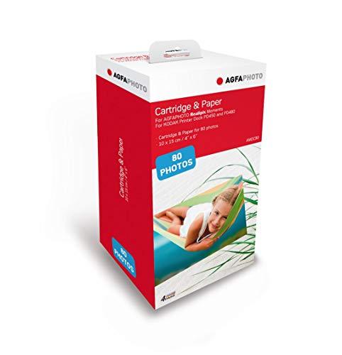 AGFA Photo - cartridge en papier, 40 foto's, formaat 10 x 15 cm, AMOC, compatibel met AGFA Photo Realipix Moments en Kodak PD450, PD480 en PD450WIFI 80