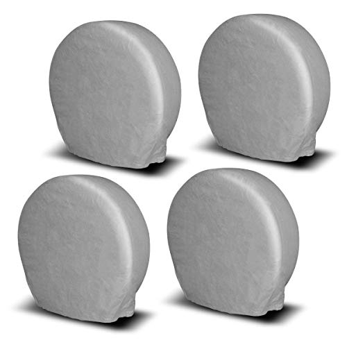 YITAMOTOR Tire Covers,Set of 4 Heavy Duty 600D Oxford Motorhome RV Wheel Covers,100/% Waterproof PU Coating Tire Protectors,Universal Tire Covers,Fits 29-32 Tire Diameters