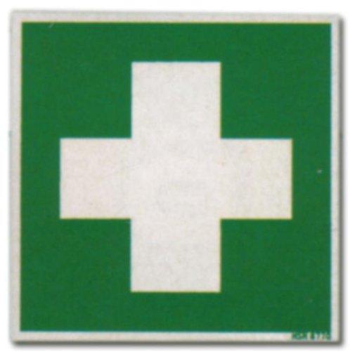 Rettungszeichen - Schild WEISSES KREUZ Erste Hilfe - grün - Warnschild Warnzeichen Arbeitssicherheit Türschild Tür Kunststoff Kunststoffschild Geschenk Geburtstag
