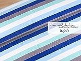 Mamasliebchen <b>FROTTEE</b>-Stoff widestripes #Lupin