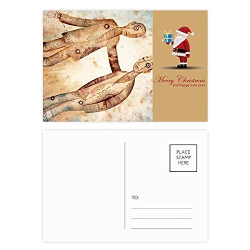 Mei Juni Gemini sterrenbeeld Zodiac Kerstman Postkaart Set Thanks Card Mailing 20 stks