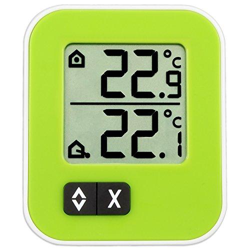 TFA Dostmann Moxx digitales Innen-Außen-Thermometer, Höchst- und Tiefwerte, zur Temperaturüberwachung