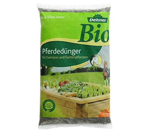 Dehner Bio Pferdedünger, für Gemüse- und Gartenpflanzen, 5 kg, für ca. 60 qm