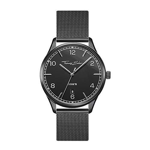 THOMAS SABO Damen Analog Quarz Uhr mit Edelstahl Armband WA0362-202-203-36 mm