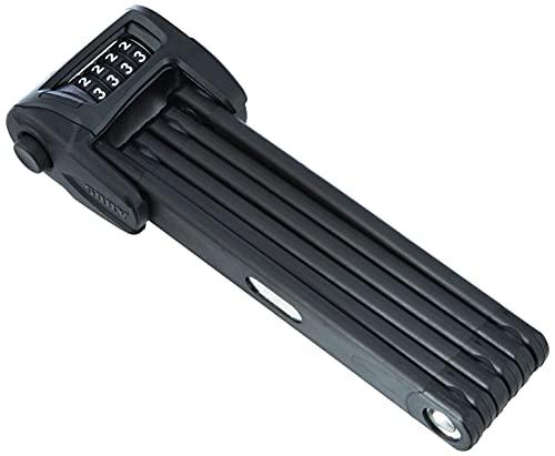 ABUS Faltschloss Bordo Combo 6100/90 mit Schlosstasche - Fahrradschloss aus gehärtetem Stahl - mit Zahlencode - ABUS-Sicherheitslevel 9 - 90 cm - Schwarz