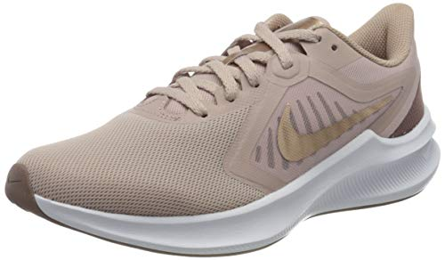 NIKE Downshifter 10, Running Shoe Mujer, Stone Mauve/Metallic Red Bronze-Smokey Mauve, 39 EU