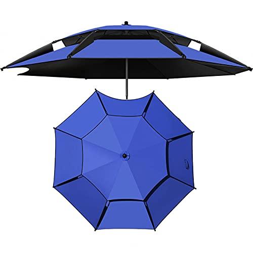 Sombrilla de Playa con Anclaje de Arena, Inclinación Ajustable de 360 °,Protección UV 50+ Portátil para Exteriores,Sombrilla a Prueba de Viento con Bolsa de Transporte,para Pesca,Piscina,Camping
