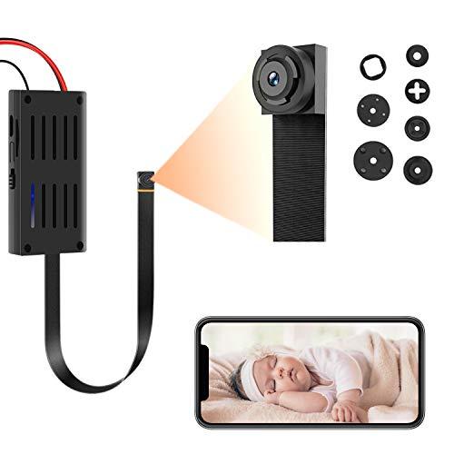 Mini Telecamera Spia Wifi Videocamera Nascosta 1080P HD Microcamera Spia Wireless con Rilevamento di Movimento Micro Spy Cam Sorveglianza Senza Fili per Interni/Esterni