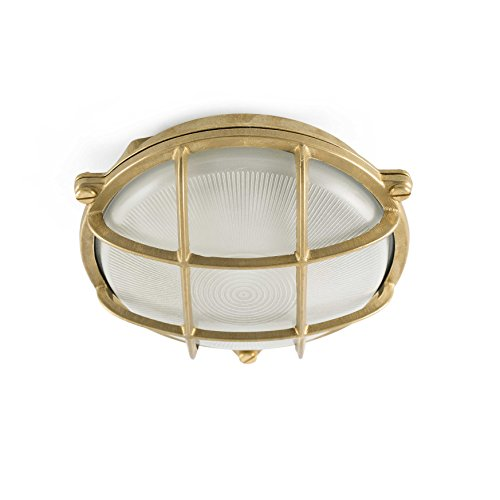 Faro Barcelona Canillas 70999 Wandlamp, 60 W, lichaam van messing, diffuser van glas