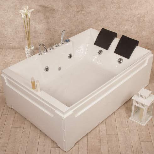 Baño Italia bañera de hidromasaje 2 plazas 185 x 123 cm con 8 chorros cromoterapia y grifería