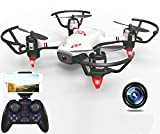 Haktoys RC Quadcopter WiFi HD Live Streaming Drone with Camera, Gesture Recognition, Optical Flow Positioning, Trajectory Plan, Take-Off & Return Key, 360°Flips, Headless Mode