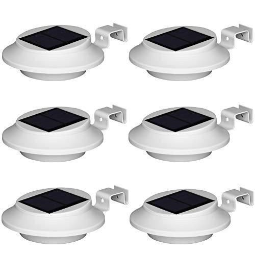 Dachrinnen Solarleuchten-BILLION DUO Solarlampen Für Außen, IP65 Garten Solar dachrinnenbeleuchtung, 1500mAh Wandlampe Außen Warmweißes Licht, 6 LED Sicherheitswandleuchte Für Zaun,Terrasse,Hof