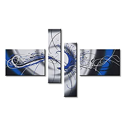 Hand-Painted Abstract Oil Painting on Canvas Modern Wall Art Decor from Winpeak Art