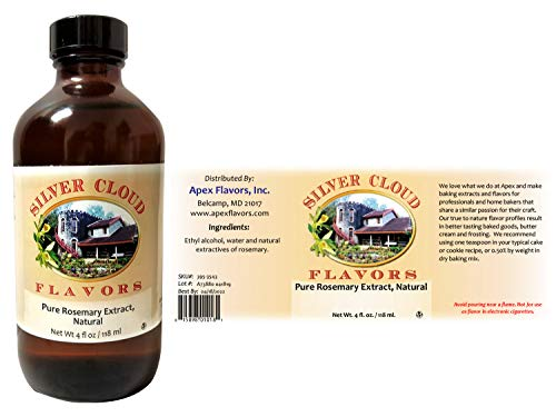 Pure Rosemary Extract, Natural 4 fl. oz. bottle