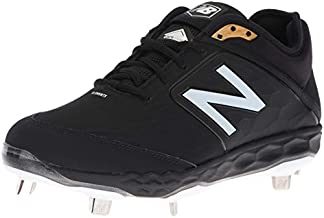 New Balance Men's 3000 V4 Metal Baseball Shoe, Synthetic Black/Black, 12 M US