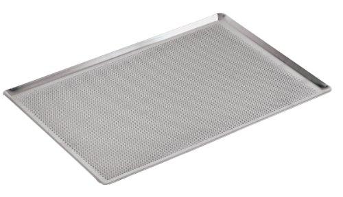Demarle 41756-30 Teglia Fondo Forato Bordi 45 Gradi, Alluminio