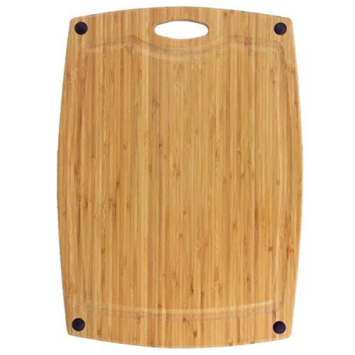 Totally Bamboo BA202266 Planche à découper Greenlite avec rigole en Bambou compatible lave-vaisselle 46 x 33 cm