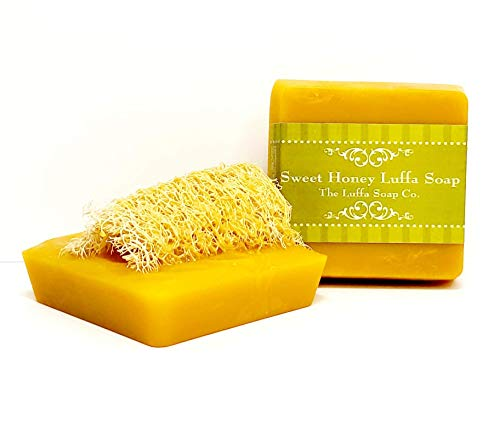 Luffa Soap Sweet Honey Exfoliating Soap Made With Natural Loofah Sponge made in USA