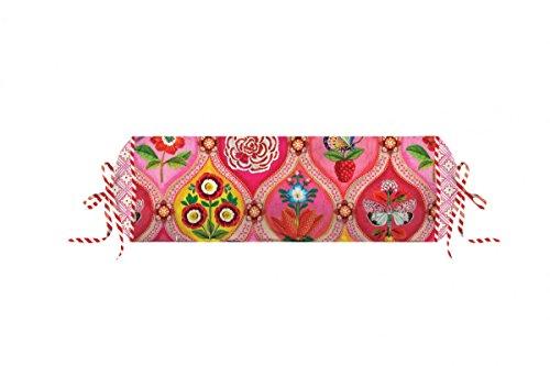 PiP Studio Perkal Bettwäsche Fairy Tiles pink Nackenrolle XL gefüllt 22x70 cm