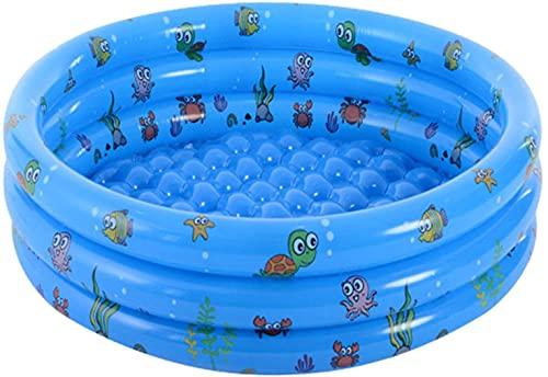 LVYE1 MRMF Piscina Redonda para Niños, Piscina Inflable para Niños, Piscina De Agua para Bebés, Piscina De Bolas Inflable para Jardín Interior Al Aire Libre, Edades 3+,Azul