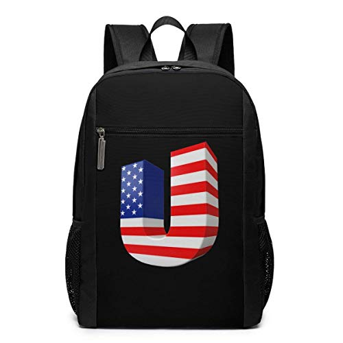 Hdadwy Funny Fashion Adult Independence Day Print Backpack Black