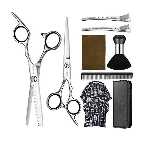 Haarschere Set 6.7 zoll, Frcolor Professionelle Friseurschere Effilierschere Schnitt Edelstahl Friseur Scheren für Kinder Frauen und Männer
