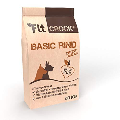 cdVet Fit-Crock Hundefutter trocken Basic Rind Mini 10 kg, getreidefrei