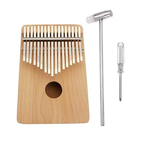 Pianoforte portatile pollice 17 chiavi DIY pittura legno di pino pollice pianoforte principianti